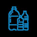 plastic bottles icon