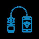 flower transmitting signal to smart phone icon