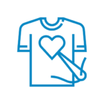 tshirt with heart icon