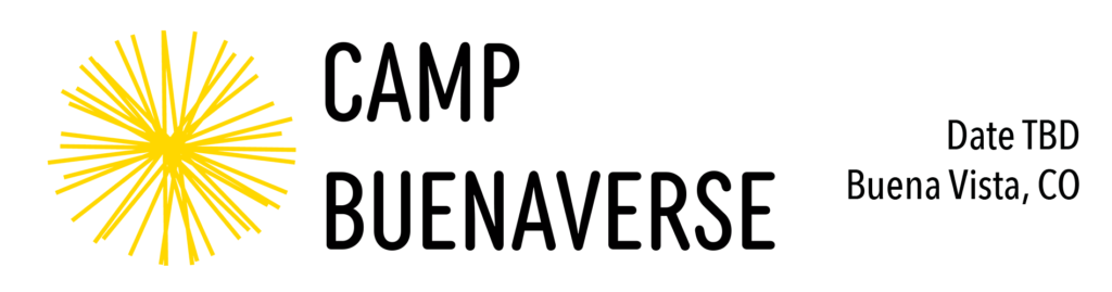 Camp Buenaverse save the date graphic